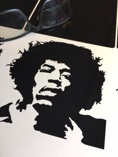 Jimi Hendrix, 6x6, 10x10, 14x14 inch Vinyl Black Decal.    This decal is perfect on vehicles, windows, walls and doors. It's made when you order it and shipped within 5 days from when you place your order.     'Jimi Hendrix' decal is cut on the industry's high-standard Graphtec CE6000-40 series cut-plotter, on premium black gloss vinyl-- Which has a 5 year, average life. And that's 5 years if you're hanging it on your car, where it's exposed to sun, rain, snow, ice, and whatever else nature…