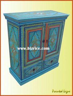 indian+painted+furniture   indian painted furniture hand painted chest indian painted furniture ...