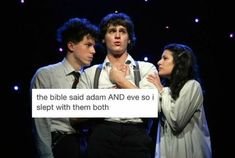 This pic cracks me up bc before I listened to Spring Awakening I knew that Jonathan Groff was in it but not Lea Michele and I freaked out laughing Theatre Nerds, Musical Theatre, Broadway Theatre, Theater, Great Comet Of 1812, The Great Comet, Come From Away, Crazy Ex Girlfriends, The Rocky Horror Picture Show
