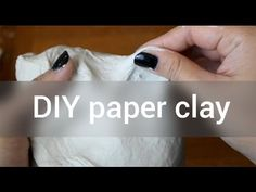 Air Dry Clay tutorial (3 materials & no microwave ) - YouTube