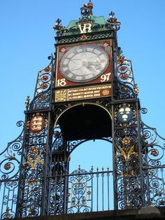 Eastgate and Eastgate Clock in Chester, Cheshire, England, stand on the site of the original entrance to the Roman fortress of Deva Victrix. It is a prominent landmark in the city of Chester and is said to be the most photographed clock in England after Big Ben. Chester is a town in the north of England where Tudor meets Roman architecture. Great place to visit as a tourist, Fab place to shop, excellent restaurants.