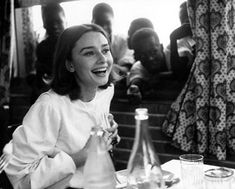 Audrey Hepburn during a break in the filming of 'The Nun's Story', 1959.