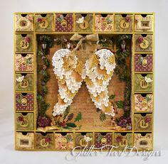 Glitter Tart Designs: Angel Wing Advent Calendar Shadowbox ~ Multiple Tutorials