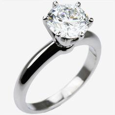 1.5 carat platinum Diamond engagement ring