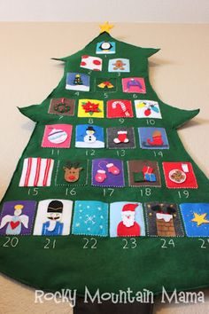 {12 Days of Christmas} Felt Christmas Tree Advent Calendar