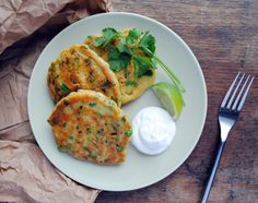 No need to forage: Green Pea Pancakes