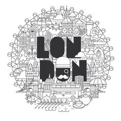 I love #London #FormaandCo #Vinyl #Hommu #livingroom #illustration #icons…
