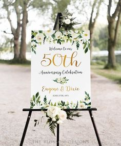 50th Anniversary Poster 50th Anniversary Sign Anniversary   Etsy