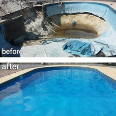 11 Best Pool Makeovers Images Pool Liners Pools Pool Spa