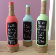 quotes on wine bottles...genius