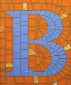 Mosaic Letter B- The Tieton Alphabet  Tieton Mosaic is a mosaic sign company in Tieton, WA specializing in typographic glass mosaic signage
