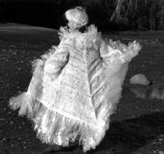 Katherine Cobey. Wedding dress made from handknit, hand cut plastic bags.