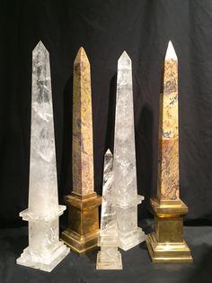 rock crystal and a pair of marble & brass obelisks. OnlyObelisks.com