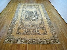 "Persian: Floral 14' 8"" x 8' 0"" Antique Lavar at Persian Gallery New York - Antique Decorative Carpets & Period Tapestries"