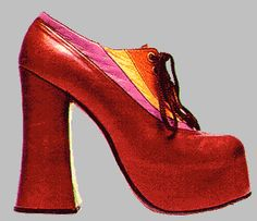 Platform shoes of the 1970s