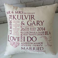 Wedding Keepsake Cushion - All Things Interior - 2