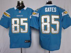 Mens Nike NFL San Diego Chargers #85 Antonio Gates L-Blue Elite JerseyS