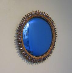 """Blue """"Flammes"""" Mirror, 1955"""