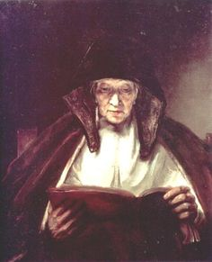 Old Woman Reading - Rembrandt