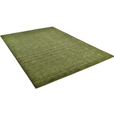 Haltu 301 Green Rugs (385 ILS) ❤ liked on Polyvore featuring home, rugs, green rug, wool area rugs, pile rug, green area rugs and green wool rug