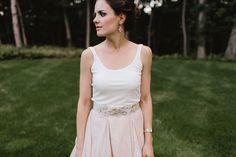 Kelsey and Ryer's Backyard Farm-to-Table Michigan Wedding on @intimatewedding Photography by @jillianbowes #dress #weddingdress #bridalstyle