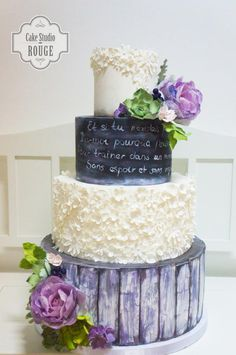 Rustic wedding cake by Ceca79 - http://cakesdecor.com/cakes/267375-rustic-wedding-cake