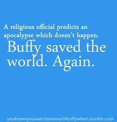 Buffy saved the world. Again.
