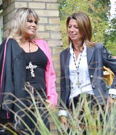 Model und Schauspielerin Elke Jeinsen, USA, Playboy, Playmate, mit Silvia Fritz, Designerin, http://heidivomlande.de