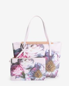 Sunnita Floral print leather shopper bag | Ted Baker UK
