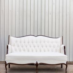 Joni Sofa from Birch and Brass. Unique rental company in Austin! They have some great pieces I think would be perfect for the lounge areas and make a statement