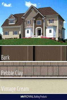 Red Brick Beige Siding Home Exterior Pinterest