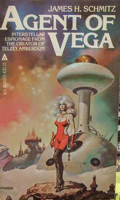 Boris Vallejo, Agent of Vega by James H. Fantasy Books, Sci Fi Fantasy, Science Fiction Kunst, Classic Sci Fi Books, Sci Fi Comics, Retro Futuristic, Illustrations, Pulp Art, Sci Fi Art