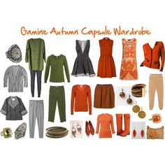 """Gamine Autumn Capsule Wardrobe"" by jeaninebyers on Polyvore"