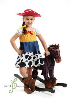 Cow Girl Jessie Toy Story Peasant Disney  Dress Costume Christmas Gift via Etsy