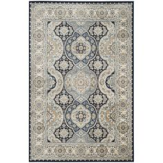 Safavieh's Persian Garden collection is inspired by timeless traditional designs crafted with the softest viscose available. This rug is crafted using a power-loomed construction with a viscose pile a