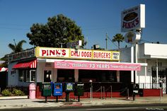 Pink's | Have you ever not seen a line during daylight hours?  Photo by Mark Peacock via 10thStreetLA