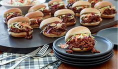 Kansas City-Style Pulled Pork Sliders