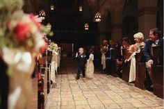 Walking down the aisle of Knowles Chapel...