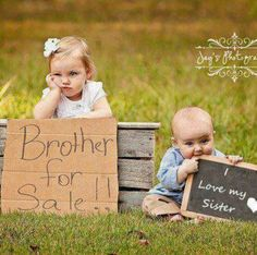Cute brother sister photo opportunity, this is definitely like my brother and I