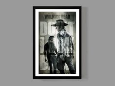 The Walking Dead - Rick Grimes Custom Poster - Iconic, Don't Look Back by MusicAndArtCoUSA on Etsy