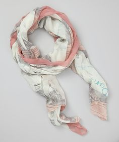 Take a look at this Pink Paris Scarf on zulily today!