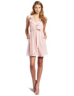 BCBGeneragtion ruffle dress in Petal, from amazon.com