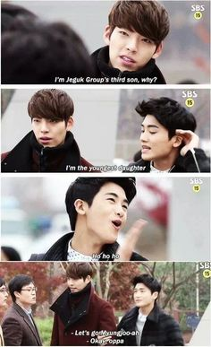 Haha i loved this. The Heirs one of my favorite dramas The Heirs, Heirs Korean Drama, Korean Drama Funny, Korean Drama Quotes, Korean Dramas, Korean Tv Series, Korean Shows, Sad Anime Girl, Kdrama Memes
