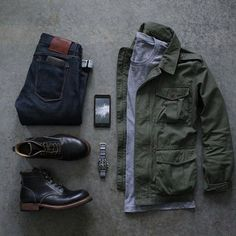 black boots paired with dark denim