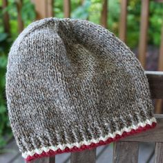 Almost A Sock Monkey Hat pattern by Anne Lindquist Reminiscent of that adorable sock monkey you loved as a child. A simple hat with just a smidge of color to bring out the monkey in you! Mens Hat Knitting Pattern, Beanie Pattern, Loom Knitting, Knitting Socks, Knitting Patterns Free, Baby Knitting, Free Pattern, Child Knit Hat Pattern, Softie Pattern