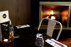 Tomi's Restaurant has a fire place for those cold winter nights. Winter Night, Fire, Restaurant, Cold, Places, Twist Restaurant, Diner Restaurant, Restaurants, Dining Rooms