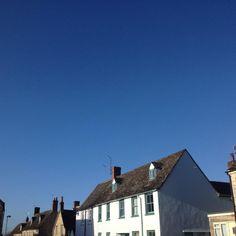 Blue sky in Witney, Oxfordshire. Witney Oxfordshire, Sky, Blue, Heaven