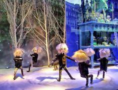 "19056 - Christmas window display 2009 Paris store ""Le Printemps""  巴黎 파리 窗口显示 윈도우 디스플레이"