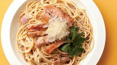 Pasta with Bacon-Mushroom Sauce Recipe