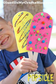 Felt Pretend Play Popsicle - Kid Craft